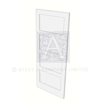 Four panel door from the Atkey and Co Contemporary Collection of internal doors