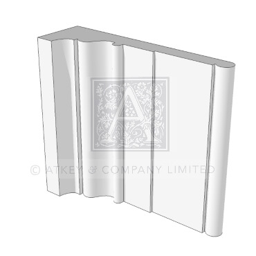 GARS412 Architrave from the Soane Range 3d