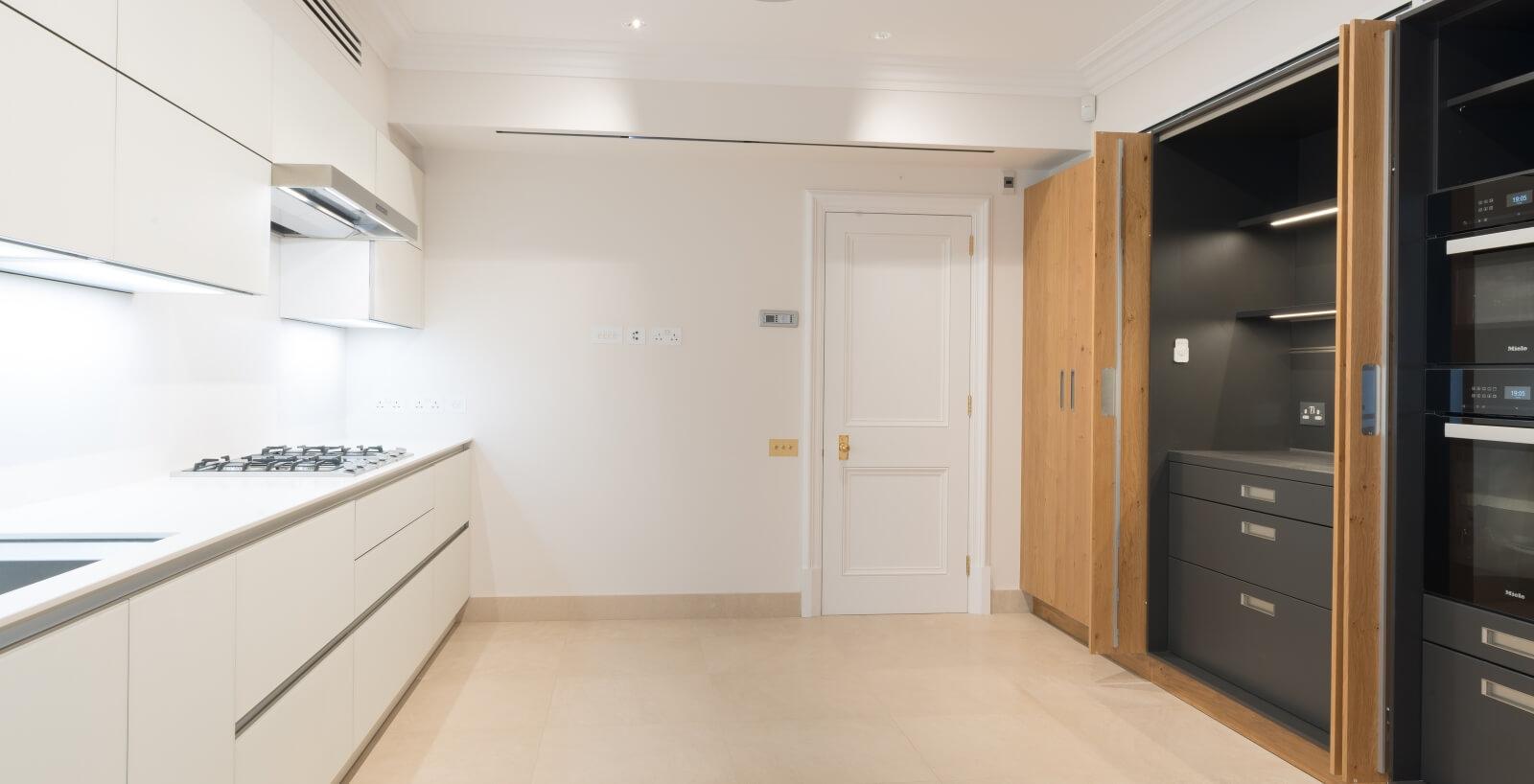 two panelled victorian door for kitcken in luxury Lennox Gardens