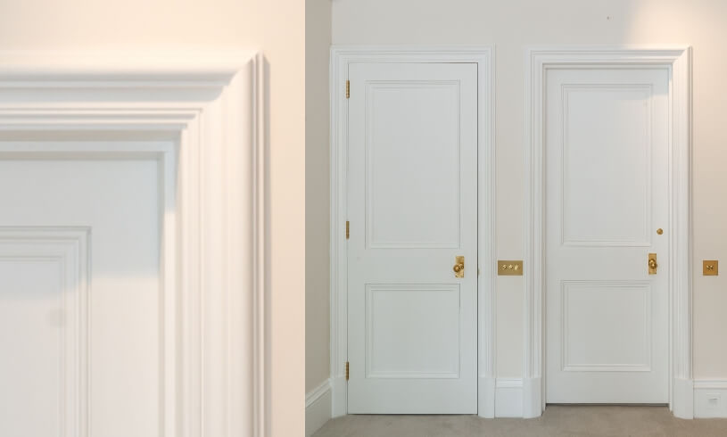 Victorian Panel Doors for a luxury property in Lennox Gardens