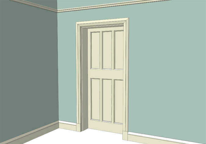 Atkey and Co | Edwardian Period Joinery Roomset 2 available with raised and fielded or flat panelled door