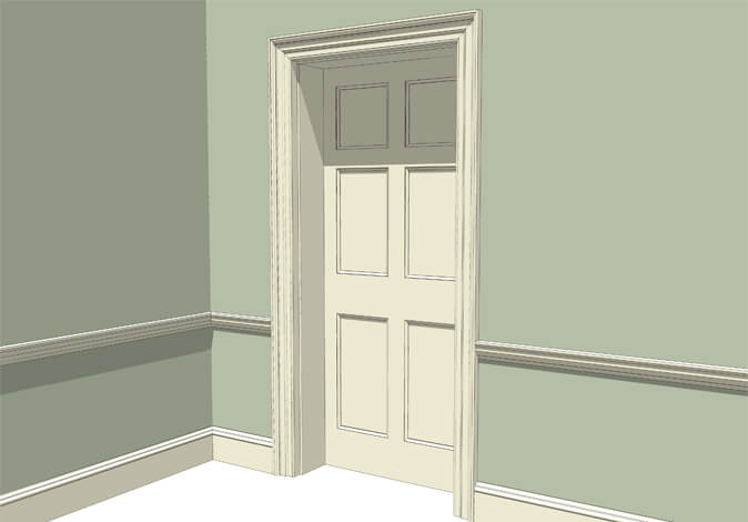 Atkey and Co | Georgian Period Joinery Roomset 2 available with raised and fielded or flat panelled door