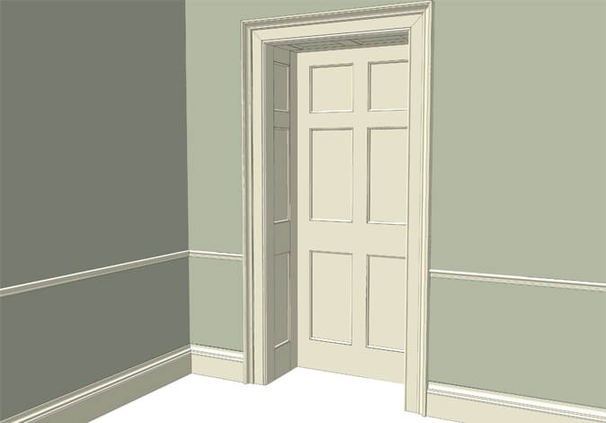 Atkey and Co | Georgian Period Joinery Roomset 5 available with raised and fielded or flat & Georgian Doors and Mouldings example 5 | Atkey and Company - Part 6