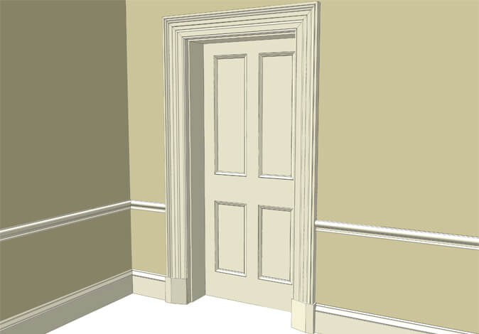 Atkey and Co | Victorian Period Joinery Roomset 1 available with raised and fielded or flat panelled door