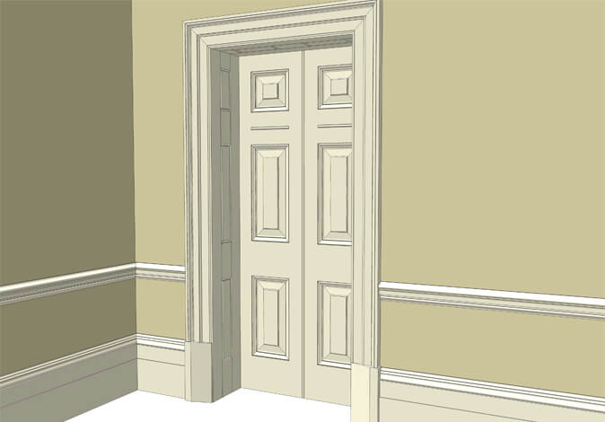 Atkey and Co | Victorian Period Joinery Roomset 2 available with raised and fielded or flat panelled door