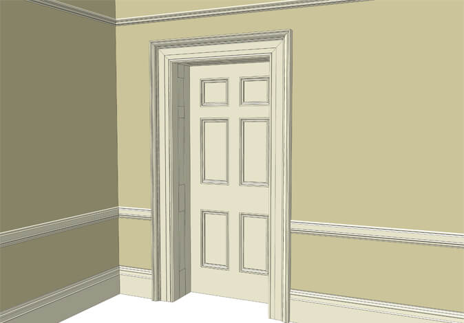Atkey and Co | Victorian Period Joinery Roomset 3 available with raised and fielded or flat panelled door